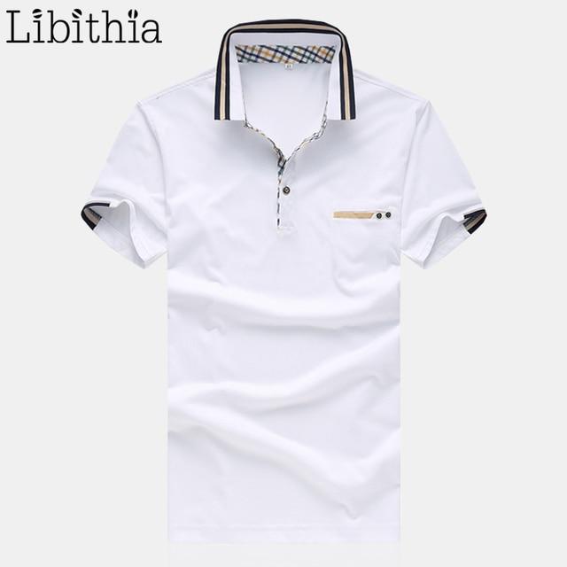 Men Polo Shirts Cotton Brand Summer Mens Solid Colors Homme Plus Size 4XL 5XL Shirt Breathable Dress Blouse White Blue S21
