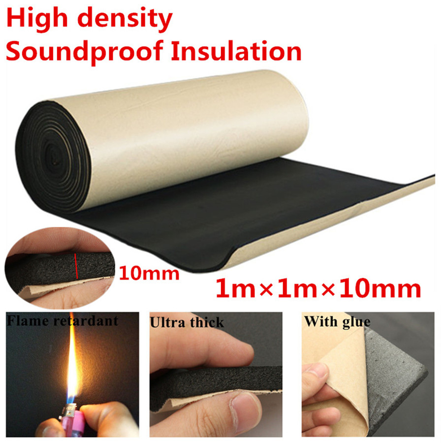1 square Sound Deadening Mat Foam Panels Sound insulation Mat Car Sound Control Mat Automotive deadener Wall in Sound Heat Insulation Cotton from Automobiles Motorcycles