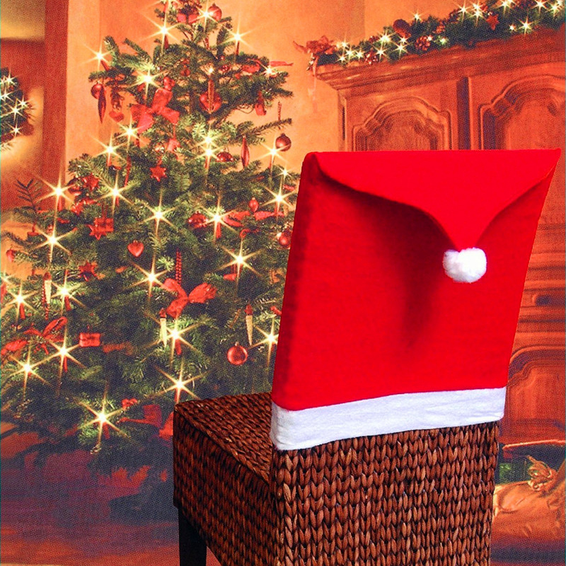 High quality 2017 New Hot Christmas supplies dining Red Chair soft covers home table Festive dinner party decoraion 65cm x 50cm
