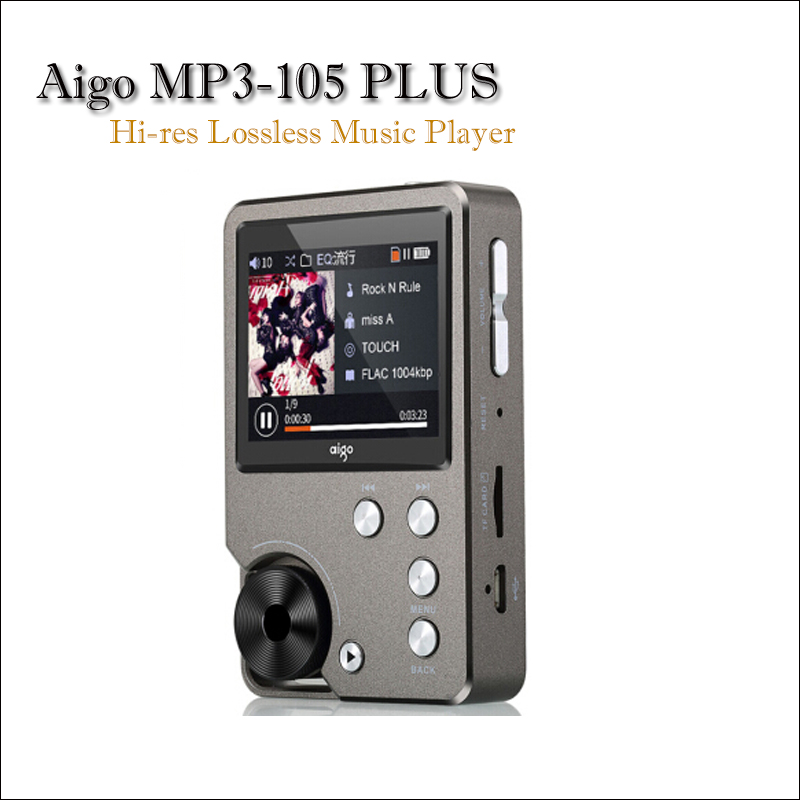 Aigo MP3-105 PLUS Hi-res Music Player Mp3 Hi fi Flac Player Portable Mp3 Player Mini Lossless Player Muisc Mp3 with Screen музыкальные диски rmg mp3 music world best of chillout компакт диск mp3