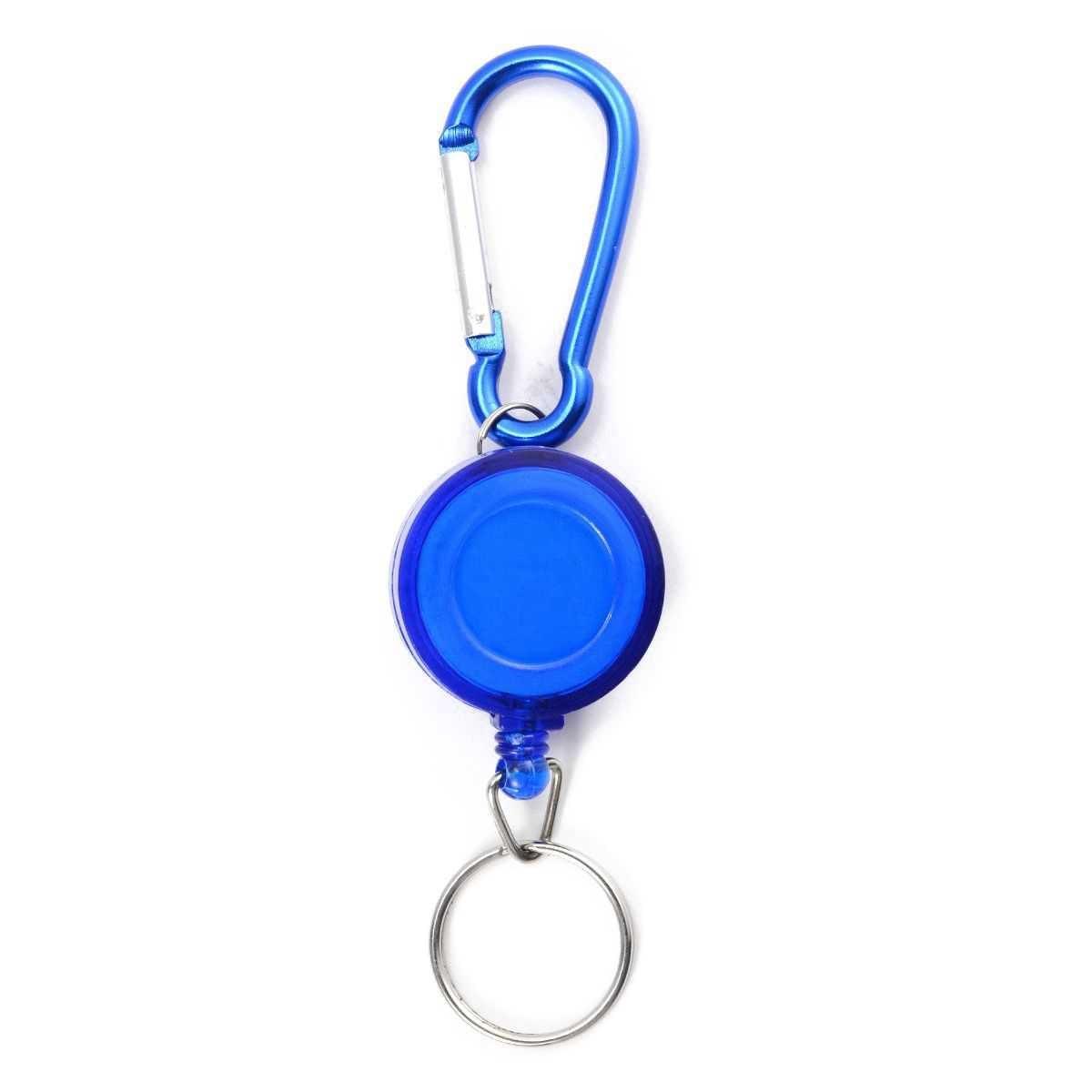 Lot 2 Badge Holder Winder Holder Keychain Retractable Carabiner Belt Clip ID Card Card Holder