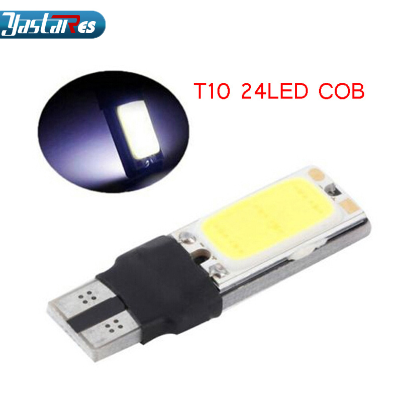 1x High power t10 w5w led cob car 5w5 12v t 10 bule white light fog Lamp interior canbus error free