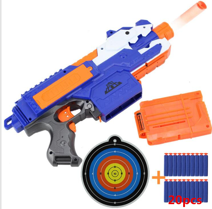 hot Sniper Rifle Plastic Gun Soft Bullet Toy Gun 20 Bullets 1 Target Electric Gun Toy for nerf toy guns Gift Toy For Child цена