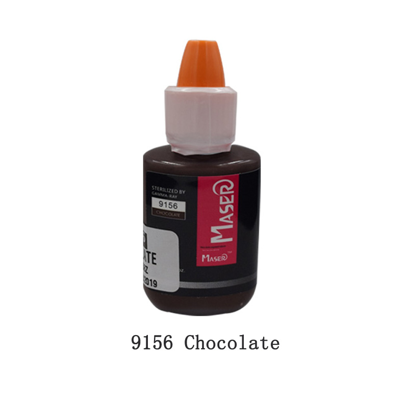 Tattoo Inks 10ML 9156 Chocolate Plant extract intensity organic non-toxic EYEBROW tattoo micro Pigment permanent makeup Ink