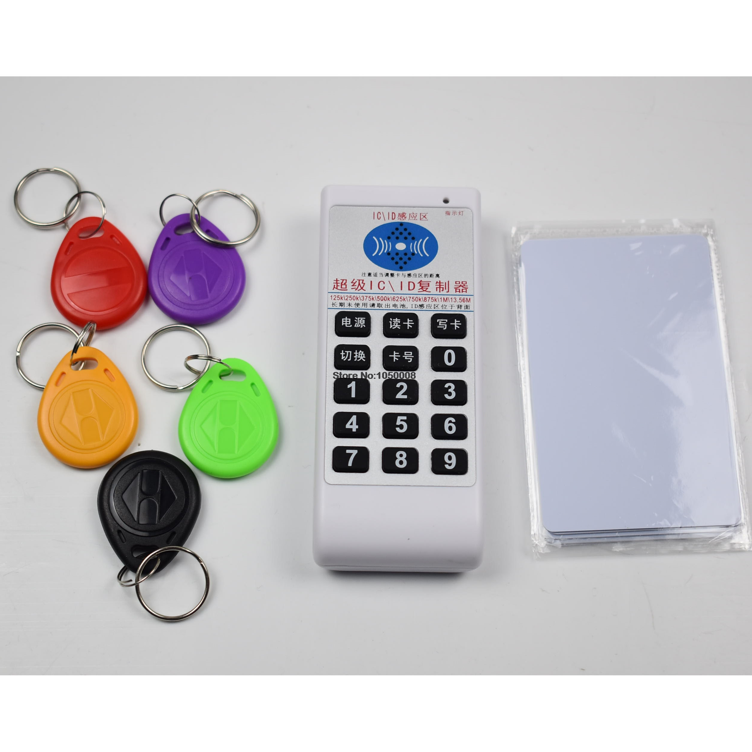 NFC RFID 13.56Mhz 125khz IC ID Copier Duplicator Cloner reader writer 9 Frequency + 5pcs 125khz T5577 Writable Tags & Cards погремушки simba букашка прорезыватель