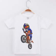 Limited Time Discount Kids T Shirt For Boys Cotton Hipster Tees Motorcycle Motocross Printed Child Tshirt Popular Tops
