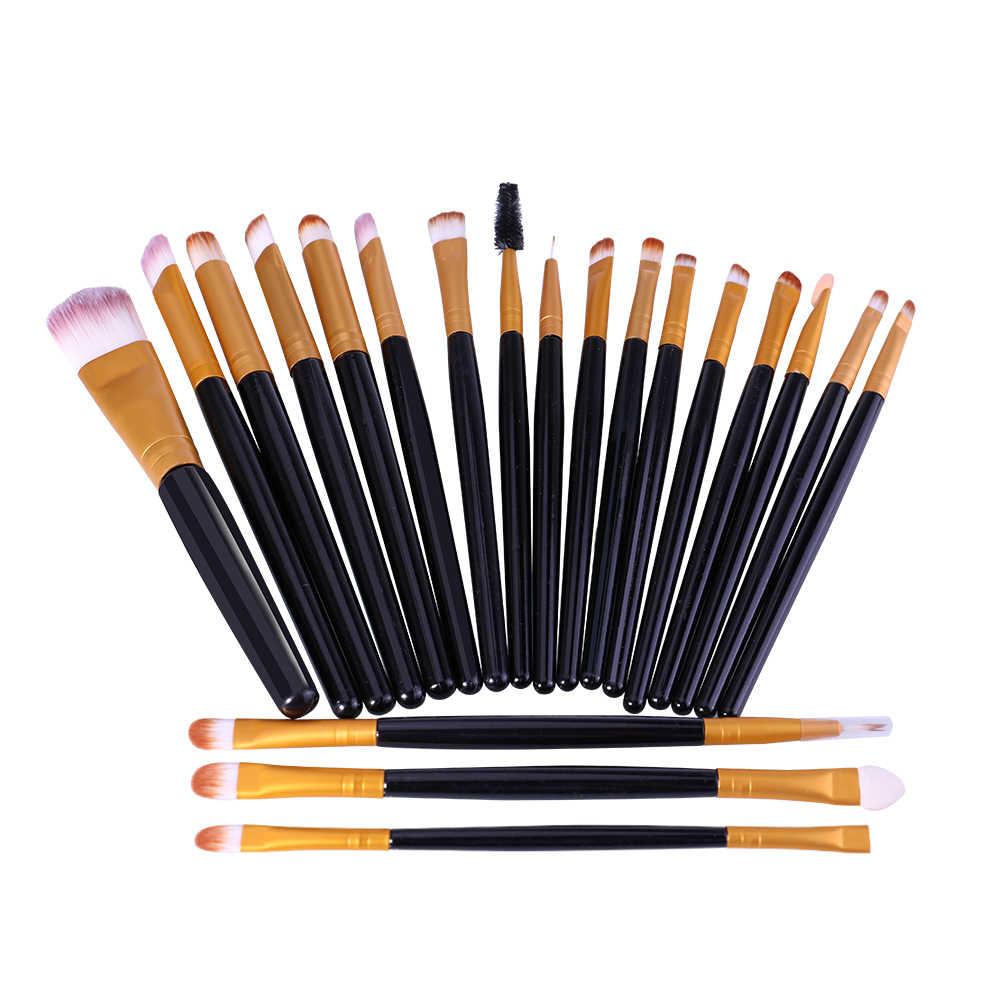 O. DEUX. O Professionnel Maquillage Brush Set Faces Fondation Blush 20 pcs dans 1 set Lèvres Yeux Fard À Paupières Eyeliner Brosse Cosmétique 3 Style