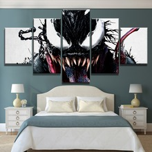 5 Piece HD Print Large Venom Marvel Comics Poster Painting Canvas Wall Art Picture Home Decoration Living Room Canvas Painting marvel comics universe poster