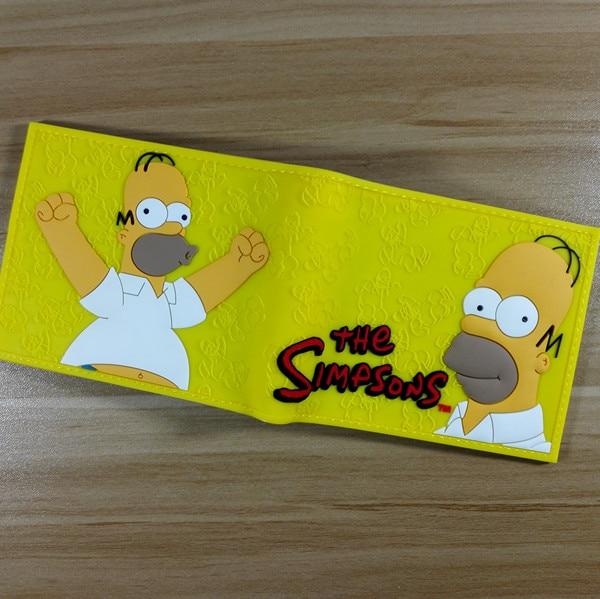 The Simpsons Bart Homer Wallet Men's Guitar Cartoon Wallet Bart Plastic Leather W274 футболка print bar the dark bart