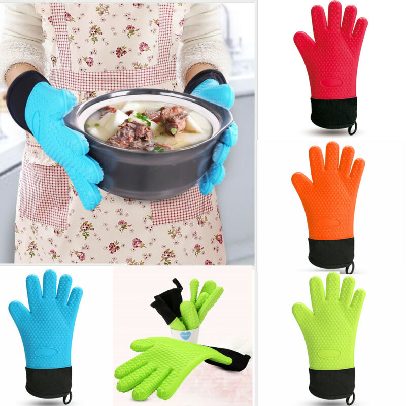 Heat Resistant Cotton Thick Kitchen Baking Cook Insulated Padded Oven Glove Single sale  2019 New(China)