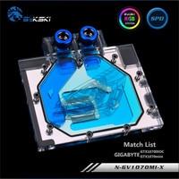 Bykski Full Coverage GPU Water Block For GIGABYTE GTX1070IXOC GTX1070mini Graphics Card N GV1070MI X