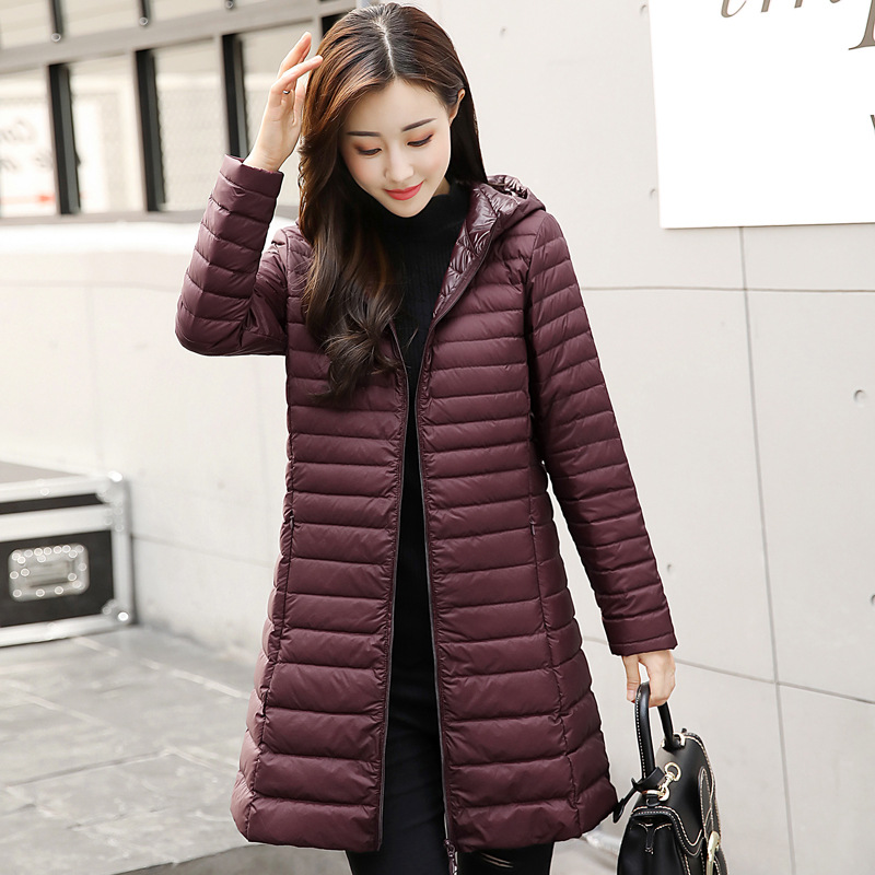 2018 New Spring Winter Autumn Jackets Cotton Padded Coat Slim Light Hooded Coat Thick   Parkas   Female Outwears