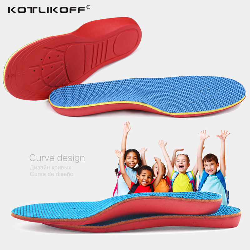 KOTLIKOFF Kids Children Orthopedic Insoles Shoes Flat Foot Arch Support Orthotic Pads Correction Health Feet Care scholl insole цена