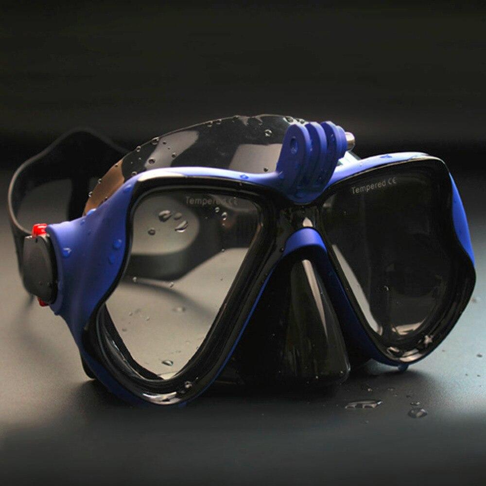 Underwater hunting Camera Diving Mask Scuba Snorkel Swimming Goggles for GoPro Xiaomi SJCAM Sports Camera 2018 wholesale