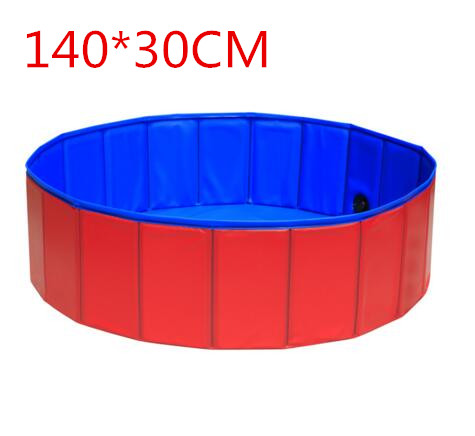 140*30cm Large Hard Plastic Foldable Collapsible Paddling Dog Pet Pool Foldable Pet Dog Swimming House Bed Summer Pool