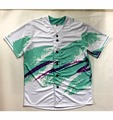 Real USA Size Custom made Fashion 3D Sublimation Print 90's Cup Baseball Jersey plus size