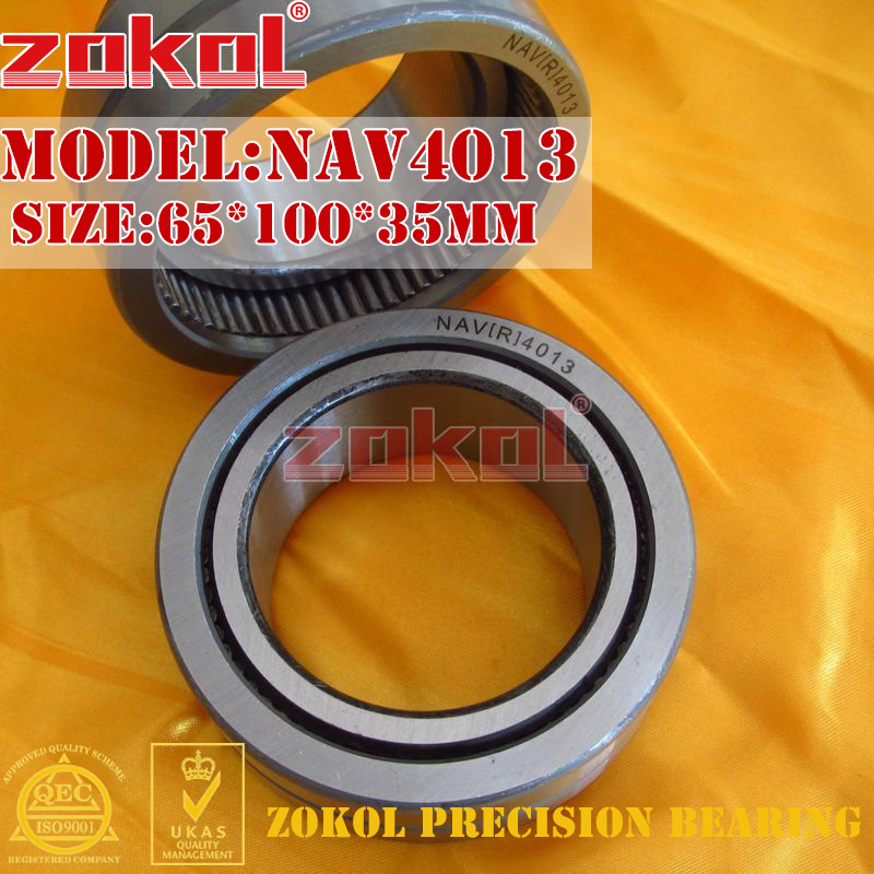 ZOKOL bearing NAV4013 Full bore needle roller bearing with inner ring 65*100*35mm bl1830 tool accessory electric drill li ion battery 18v 3000mah for makita 194205 3 194309 1 lxt400 18v 3 0ah power tool parts