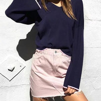 Candy Color Summer Mini Jeans Skirt Fashion Casual A Line Denim Skirts For Women Hot Sexy