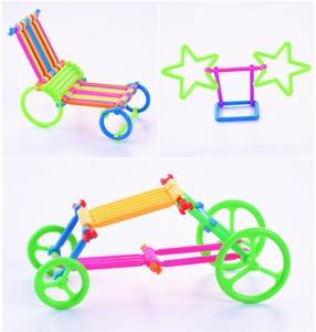 Image 5 - 500 יחידות התאסף אבני בניין DIY חכם מקל פלסטיק בלוקים דמיון יצירתיות למידה חינוכית צעצועי ילדי מתנה