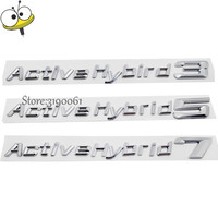 Car Styling Number Letters Badge Emblem Auto Rear Sticker For BMW 1 3 5 7 Series