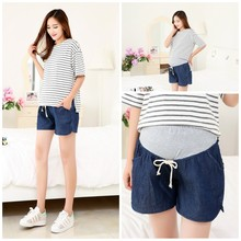 Imitation Denim Maternity Shorts