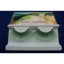 bb716a8fec5 Green Color Cosplay Eyelashes Extra Long Dramatic Lashes Professional Lash  Supplies Halloween Faux Lashes Maquiagens
