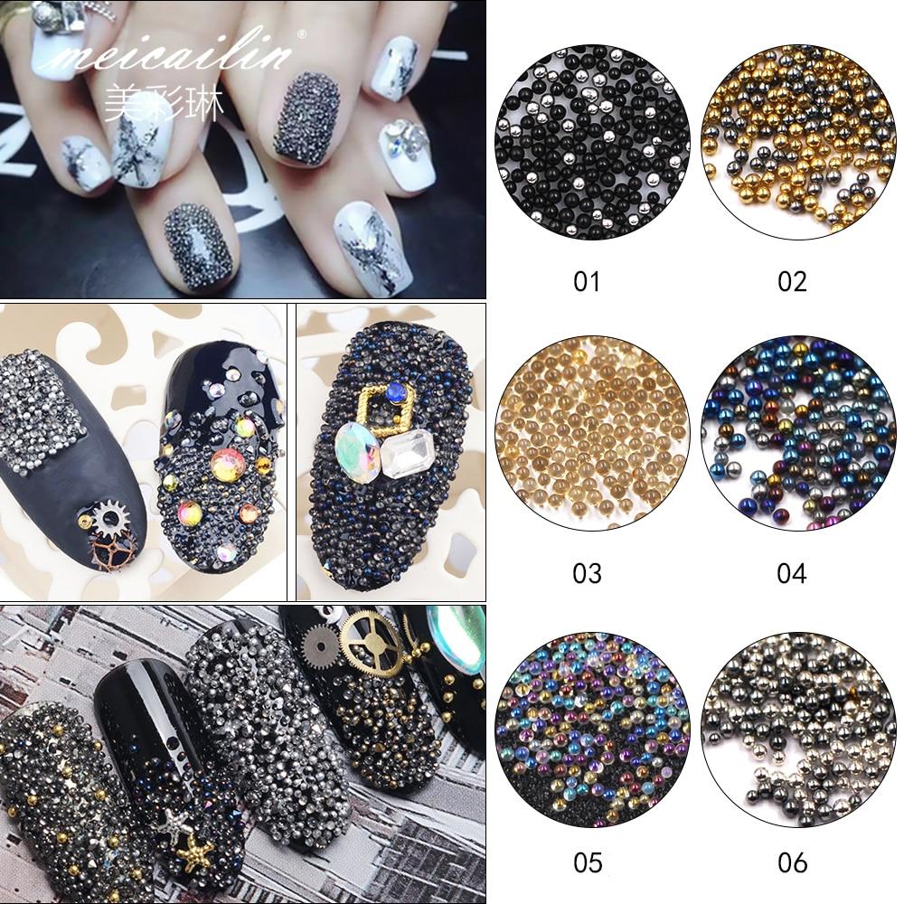 ⑤Mini DIY Nail Art Crystal Wheel 0.8mm Gardient Beads Shining 3D ...