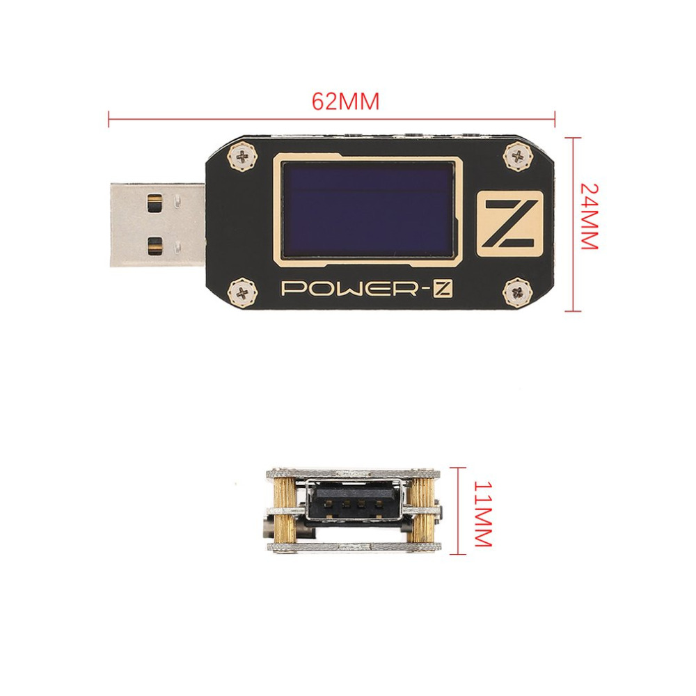 POWER-Z USB PD Testeur KM001 Standard Numérique Voltmètre Ampèremètre Voltmètre Ondulation Double Type-C Test OLED Chargeur LABORATOIRE