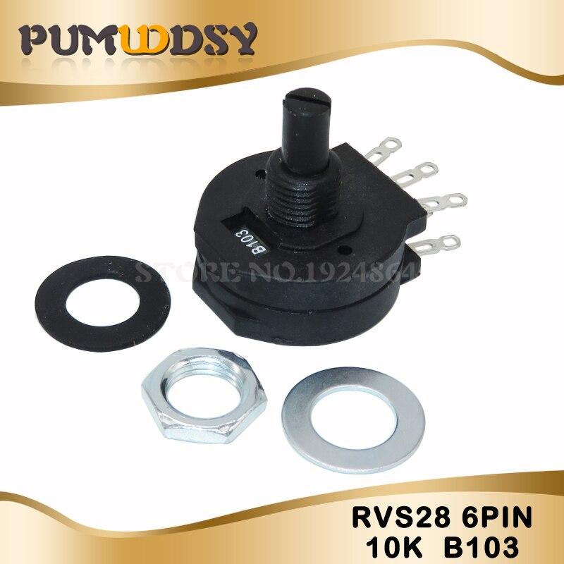 5 PCS Electric Welding Machine Potentiometer RVS28P-B103 2W 10K Welding Machine Parts RVS28 B103 6PIN Original