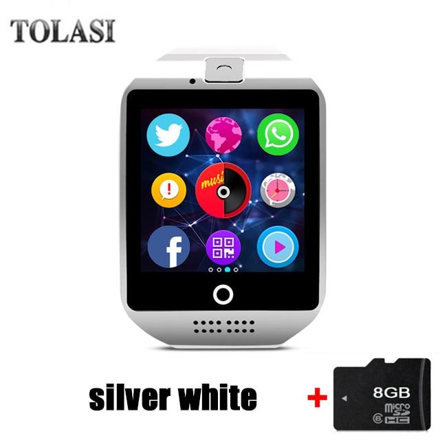 Q18 Smart Watch Kamera TF SIM kártya telefon óra Szinkron SMS ... da13d5615a