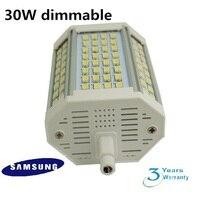 DHL 무료 배송 20 개/몫 밍이 118 미리메터 led R7S 빛 30