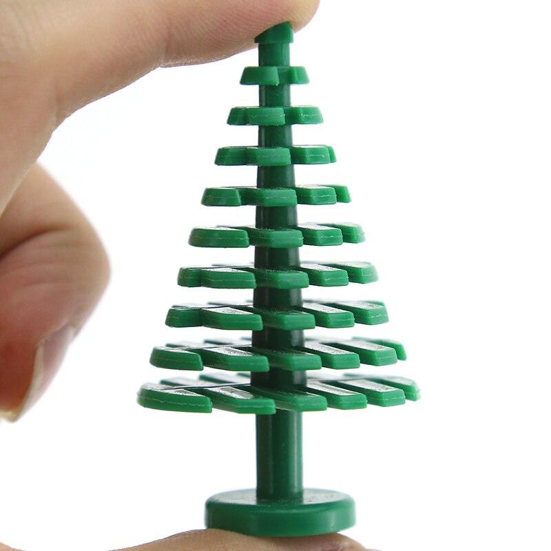 5pcs City Block Building Blocks Mini Trees Plants DIY Bricks Figure Toys