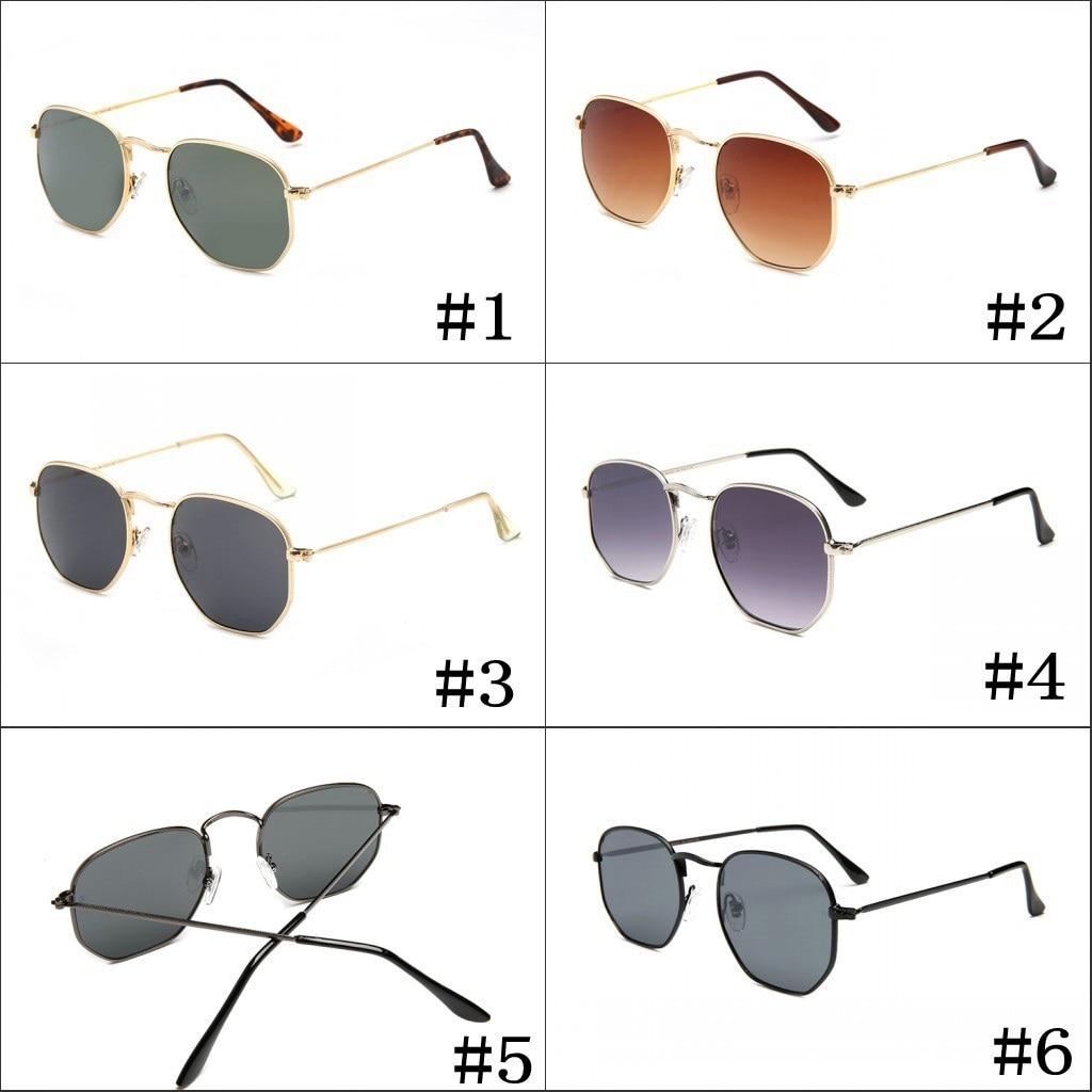 e2bb52a884 Vazrobe Small Hexagonal Sunglasses Men Women Vintage Hexagon Glasses  Original Logo Sunglass Steampunk brand design retro shades-in Sunglasses  from Apparel ...