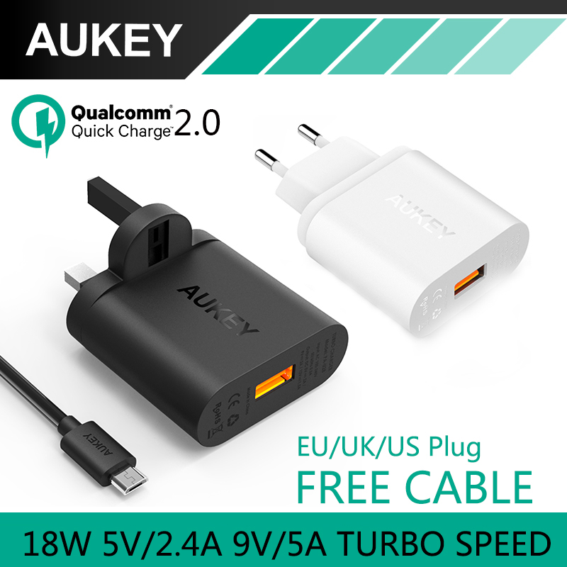 font b Aukey b font Usb Charger Quick Charge 2 0 Turbo Wall Charger EU
