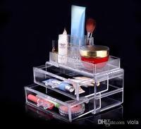 Mode Kristall Transparent Schmuckschatulle Top Acryl Aufbewahrungsbox Cosmetic Organizer
