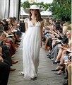 Vestido De Noiva 2016 Beach Wedding Dress V-Neck Back See-Through Boho Short Sleeve Lace Custom Summer Dress Casamento Bridal
