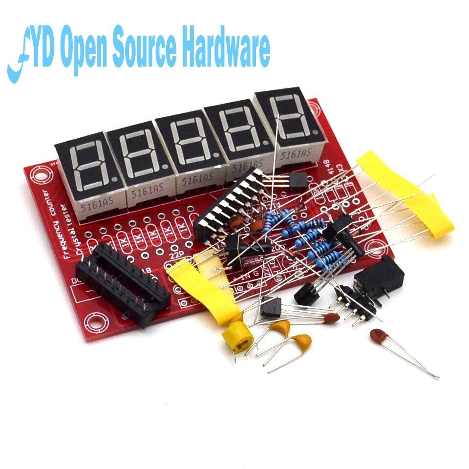 DIY наборы RF 1 Гц-50 МГц кристалл осциллятор счетчик частоты цифровой светодиодный
