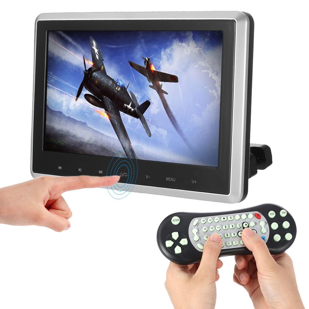 купить KKmoon 10.1 Inch HD TFT Digital LCD Screen Car Headrest DVD Player Touch Button Monitor 720p with HD USB SD Port Remote Control недорого