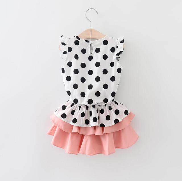 c50f90b252a24 baby girl polka dots blouse and tutu skirt set children 2pcs summer clothes  wholesale 5sets/lot-in Clothing Sets from Mother & Kids on Aliexpress.com  ...