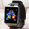 Popular smart watch dz09 com câmera do bluetooth relógio de pulso smartwatch para android ios telefone do cartão sim suporte multi linguagem