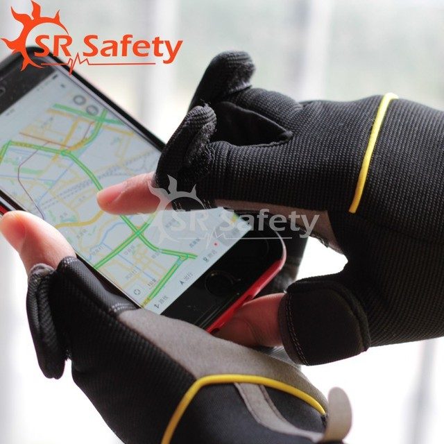 Srsafety 2 Pairs New High Quality fish glove Sports Half Finger Glove Free Shipping