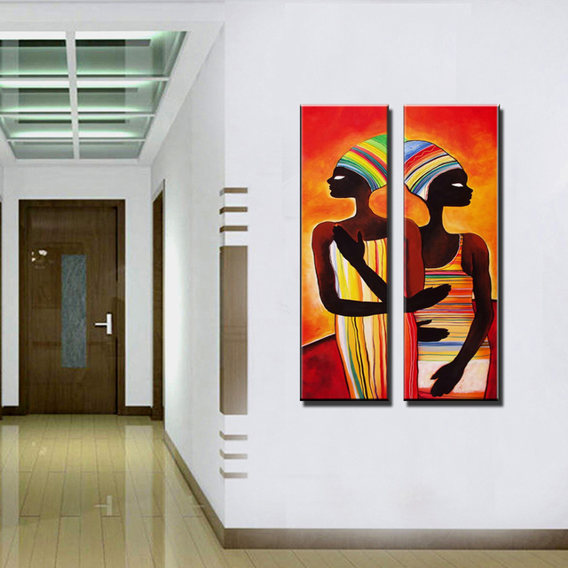 Acrylic african woman painting abstraite modern figure