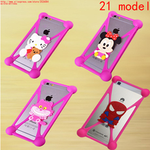 d578f0c993c 3D Cartoon Stitch Minions Minnie Kitty Back Cover universal Silicone Case  For Huawei honor 3C 4