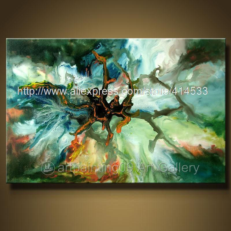 Wks Modern Contemporary Abstract Landscape Art Deco Oil Painting Decorative Painting Living Room