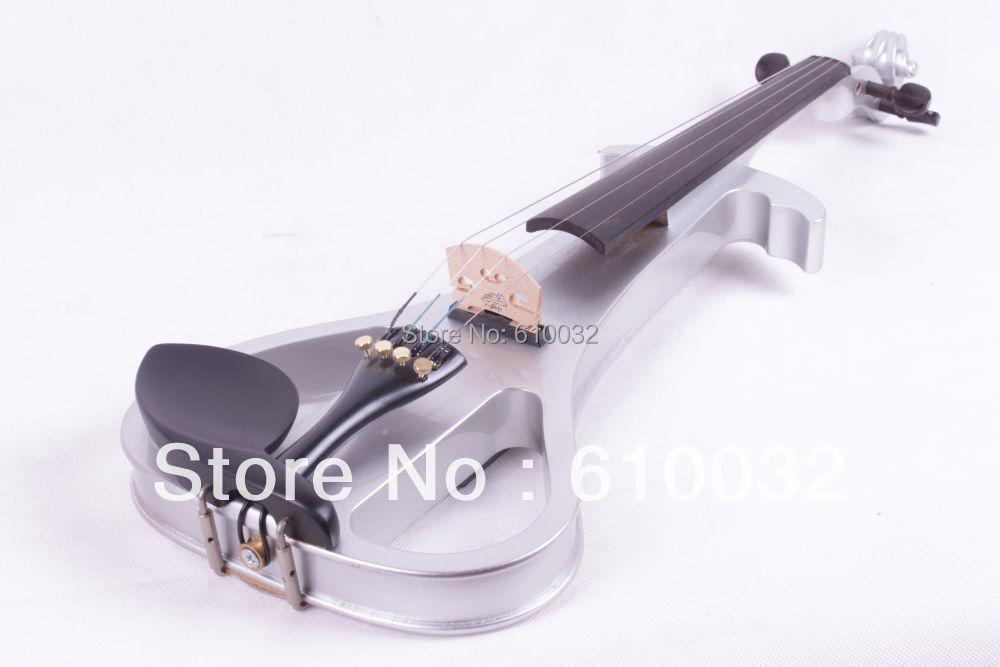 4/4 Electric Violin Solid wood 3-11# silvery grey     color 4   string 4 4 electric violin solid wood 6 21 silvery brown color 4 string