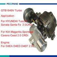 توربو جزء GTB1649V turbolader لكيا Magentis سبورتاج كارينز Ceed D4EA 2.0L 2823127480 757886 7 757886 5007 S 757886 0007