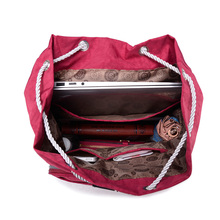 Preppy Style Women Backpack Waterproof Nylon Backpack