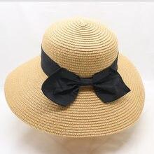 SUOGRY mujeres sol sombrero arco grande ancho Brim sombreros de verano para  las mujeres playa Panamá sombrero de paja cubo prote. 6014d324bb3