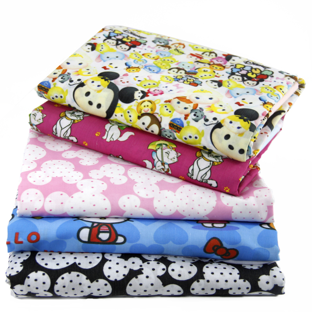 David accessories 50*145cm Cartoon patchwork Polyester cotton fabric for Tissue Kid Bedding home textile for Sewing Tilda,1Yc461