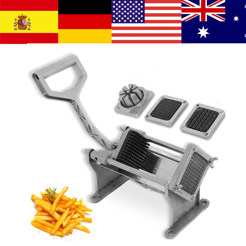 Stainless Steel Potato Cutter Fruit Vegetable Slicer French Fry Chopper Cutting Machine With 4 Different Shape Cutters Blades